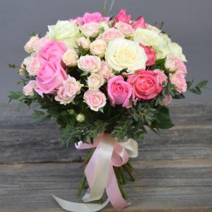 #010. Розы, кустовая роза 11шт
