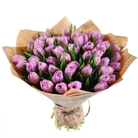#117. Тюльпаны сиреневые 37 шт
