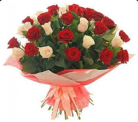 #025. 25 роз в упаковке