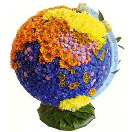 #098. Глобус цветочный из хризантем