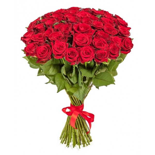 #026. Розы  красные 51шт
