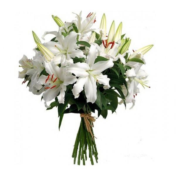 #108. Лилии белые 5 шт