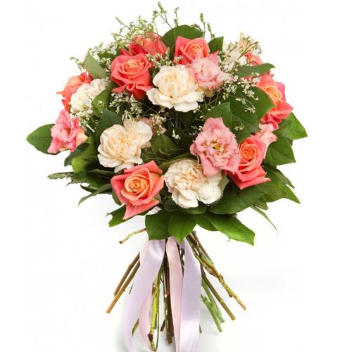 #213. Розы, лизиантус, гвоздики