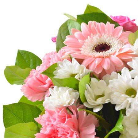 #197. Розы, герберы, хризантемы, гвоздики