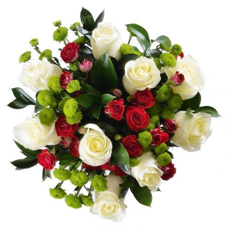 #194. Розы, розы кустовые, хризантема филигрин