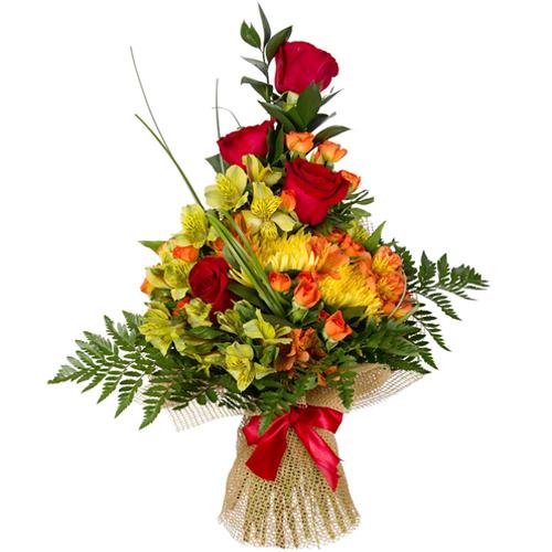 #210. Розы, альстромерии, хризантемы