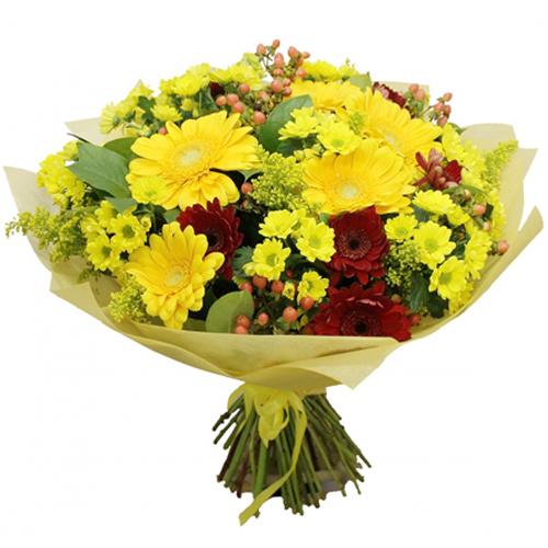 #211. Герберы, хризантемы, гиперикум