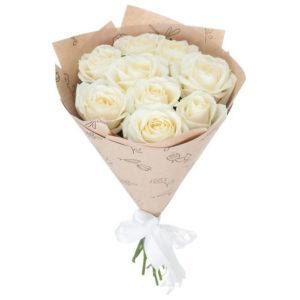#237. Розы белые 9шт