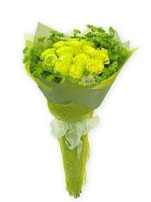 #166. Розы зеленые LEMONADE 15 шт