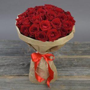 #174. Розы красные 25 шт