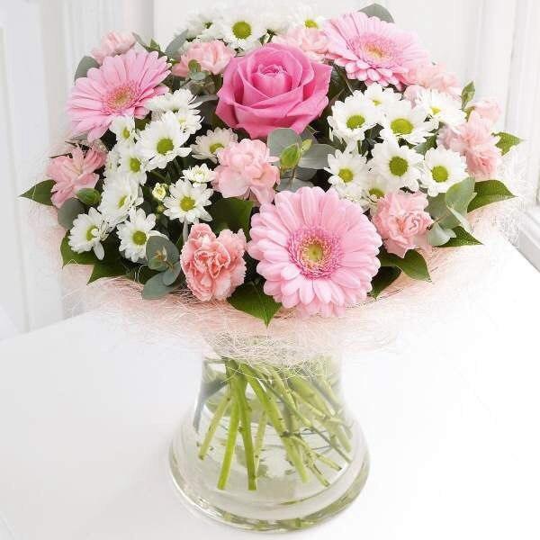 #175. Букет из роз, гербер, хризантем, гвоздик