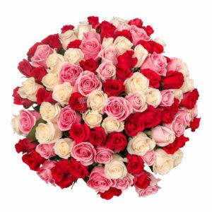 #228. Розы Эквадор 51 шт в упаковке 60см