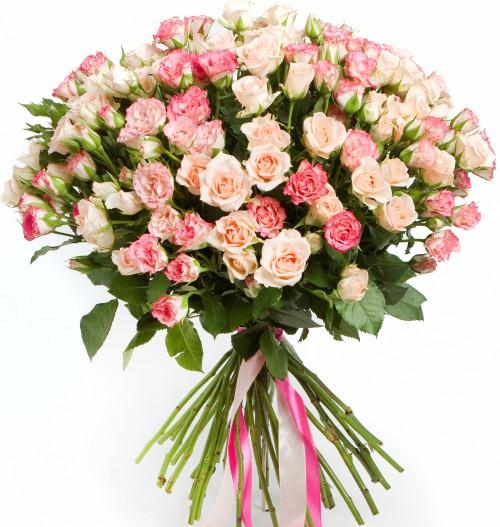 #299 Роза кустовая розовая 35шт