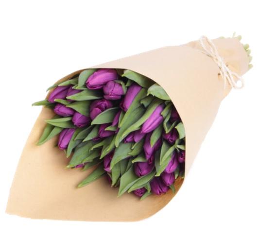 #312 27 тюльпанов в крафте