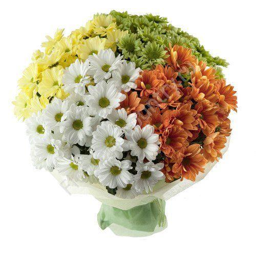 #316 букет из кустовых хризантем 19шт