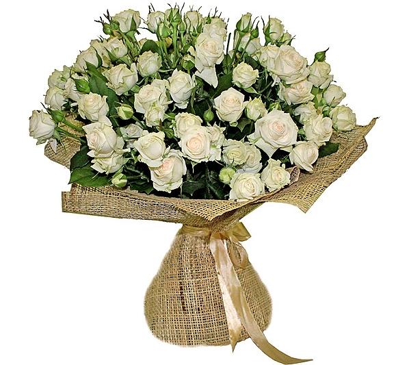 #350 букет из кустовой розы