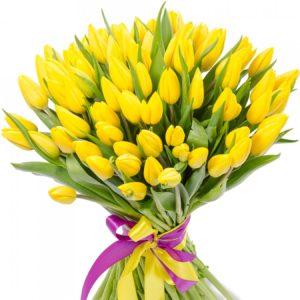 № 397 букет из 35 тюльпанов