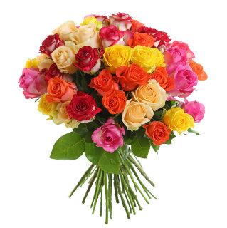 # 506 розы микс 35шт