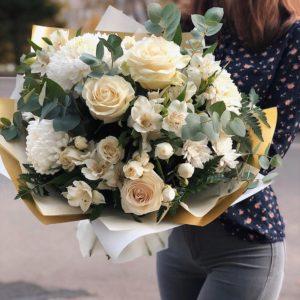 #154. Розы, альстромерии,хризантемы.