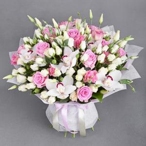 #188. Розы, орхидеи, кустовая роза
