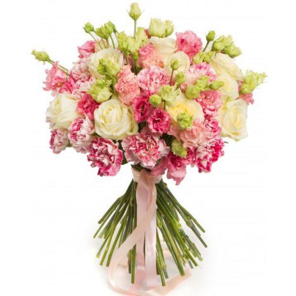 #185. Розы, гвоздики, лизиантус