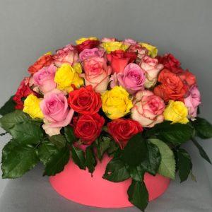 #521 Коробка с 51 розой