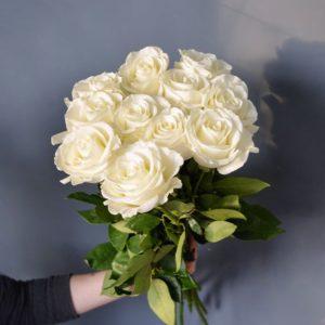 #137. Розы белые 11шт Голландия 60см