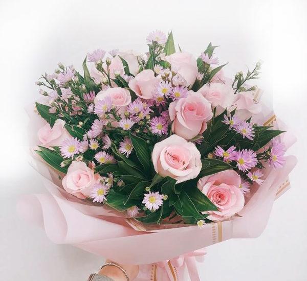 #457 букет из розовых роз