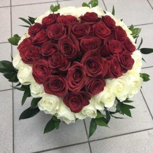 #386 сердце из роз