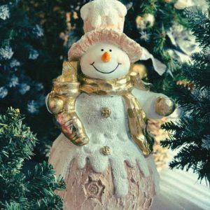 #547 Снеговик с носком подарков
