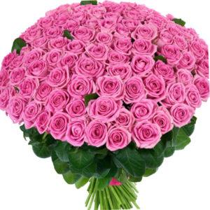 #122. Розовые розы 101шт