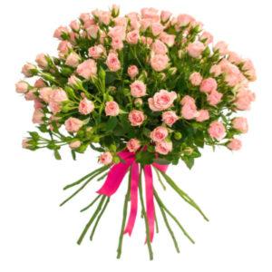 #297 Роза кустовая розовая 15 шт