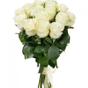 #007. Розы белые 15шт