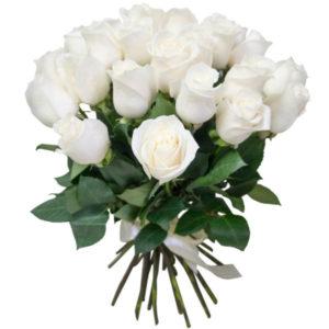 #292 Розы белые 25шт