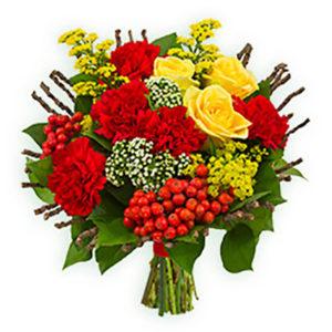 #080. Розы, гвоздики, рябина