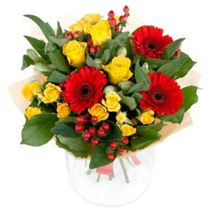 #078. Розы, розы кустовые, герберы