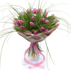 #034. Тюльпаны 25шт и берграс