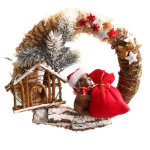 #446 Венок рождественский