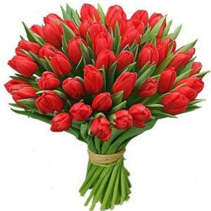 #395 букет из 51 тюльпана
