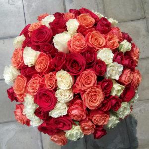 #290 Букет из 101 розы-микс