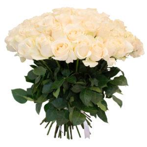 #222. Розы белые 75 шт