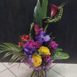 #150. Каллы, орхидеи