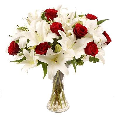 #001. Лилии, розы