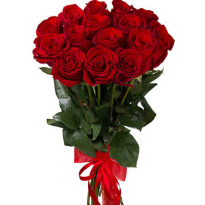 #005. Розы красные 15шт