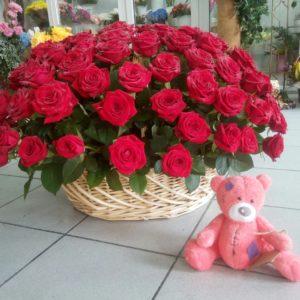 #432 корзина 101 роза
