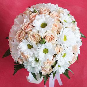 #416 Букет с хризантемой и розой