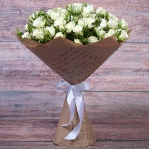 #349 букет из белой кустовой розы 7шт
