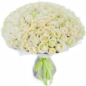 #160. Розы белые 101шт в упаковке