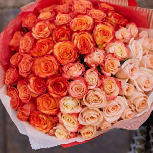 #678 Градиент букеты из роз